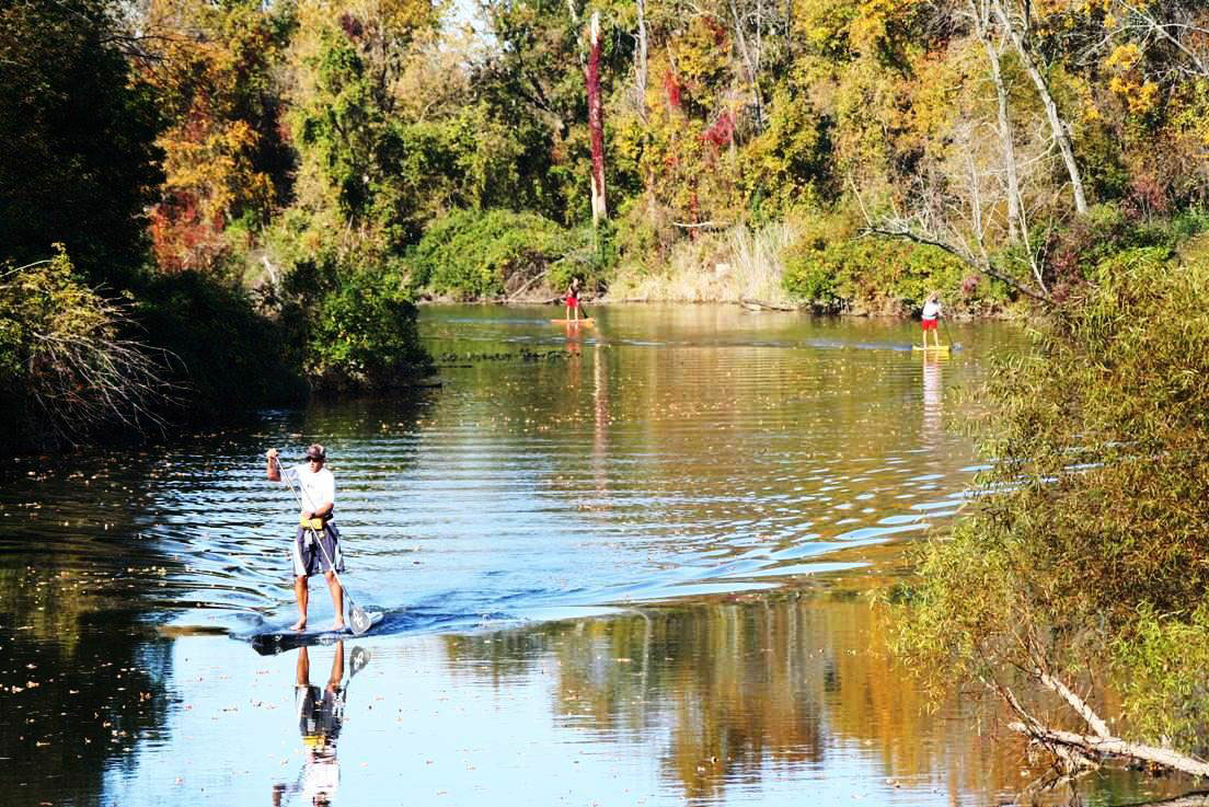 Fall Paddling on the Galien River