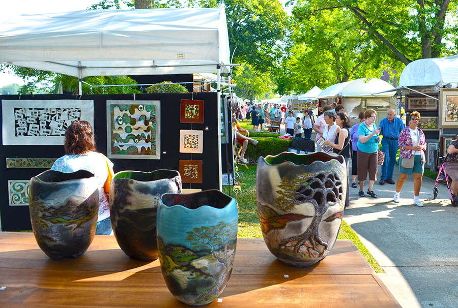 Krasl Art Fair on the Bluff in Saint Joseph, Michigan