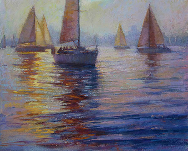 sunset sail by Kathleen Newman