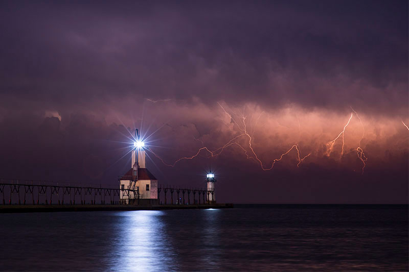 Lighthouse in Saint Joseph, MI