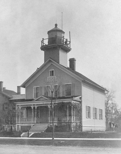 This lighthouse was built on the bluff near the present-day Curious Kids Museum and was an active lighthouse until 1924
