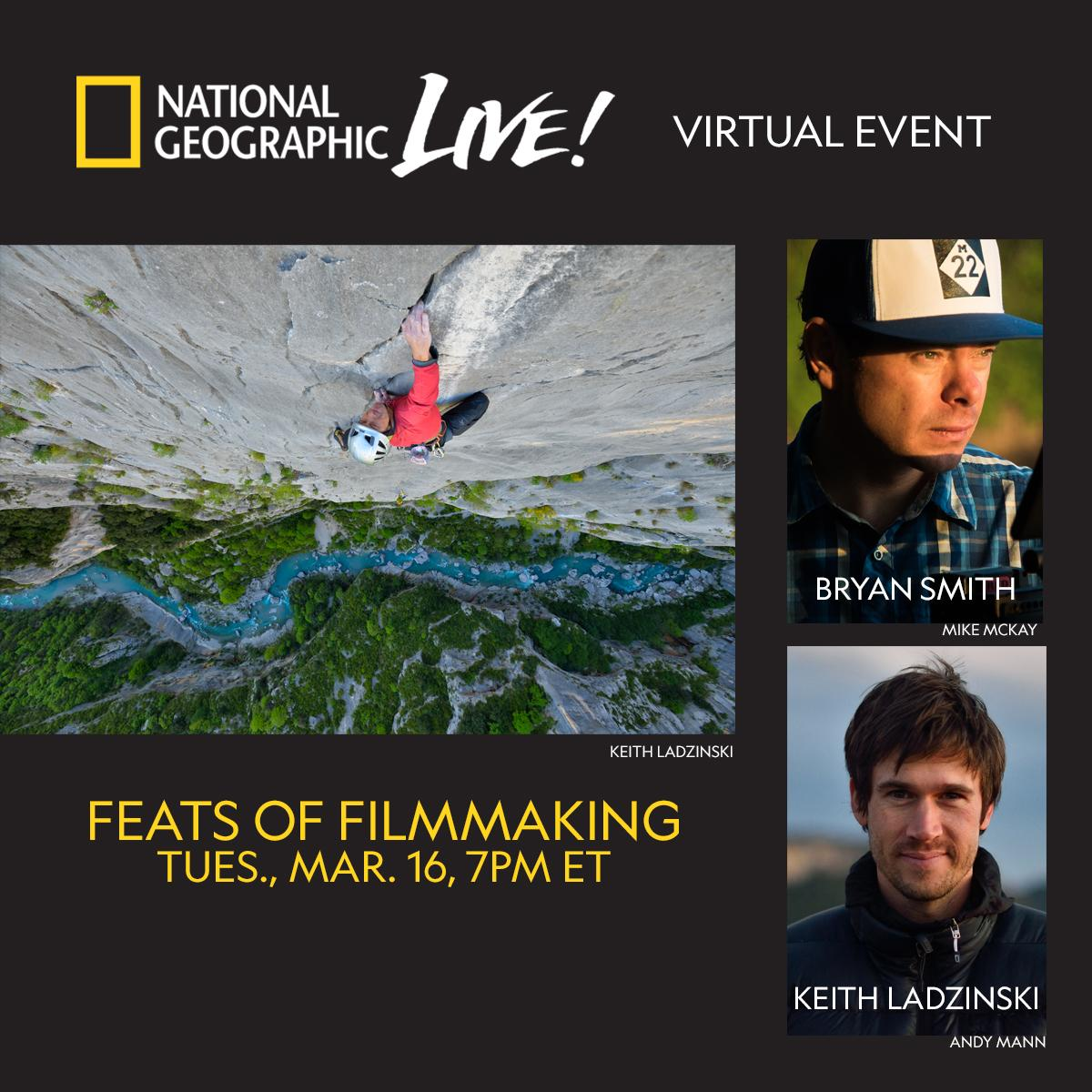 National Geographic Live! Virtual Event - Feats of Filmmaking