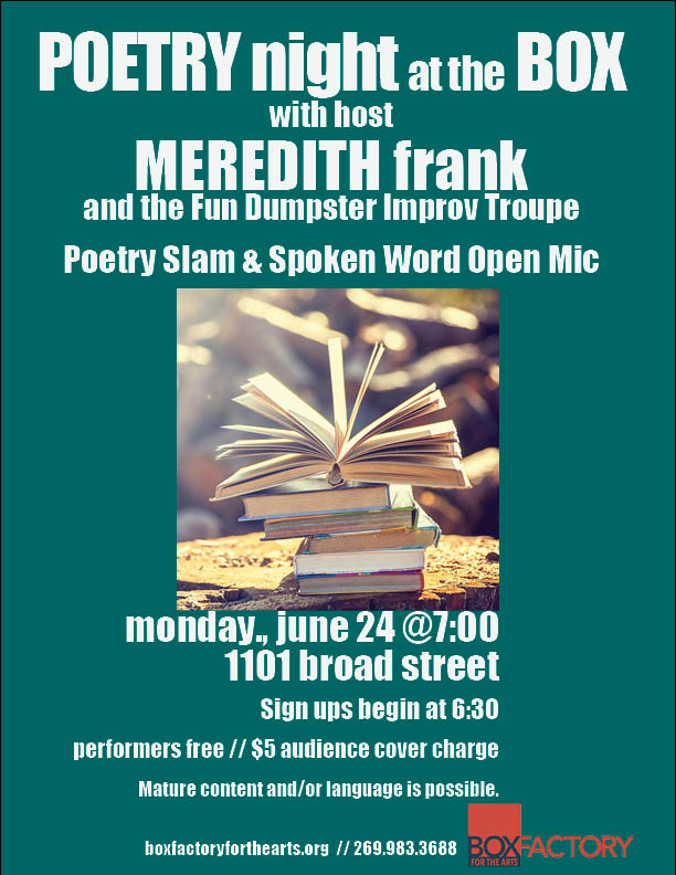 Poetry Night at the Box // Poetry Slam & Spoken Word Open Mic