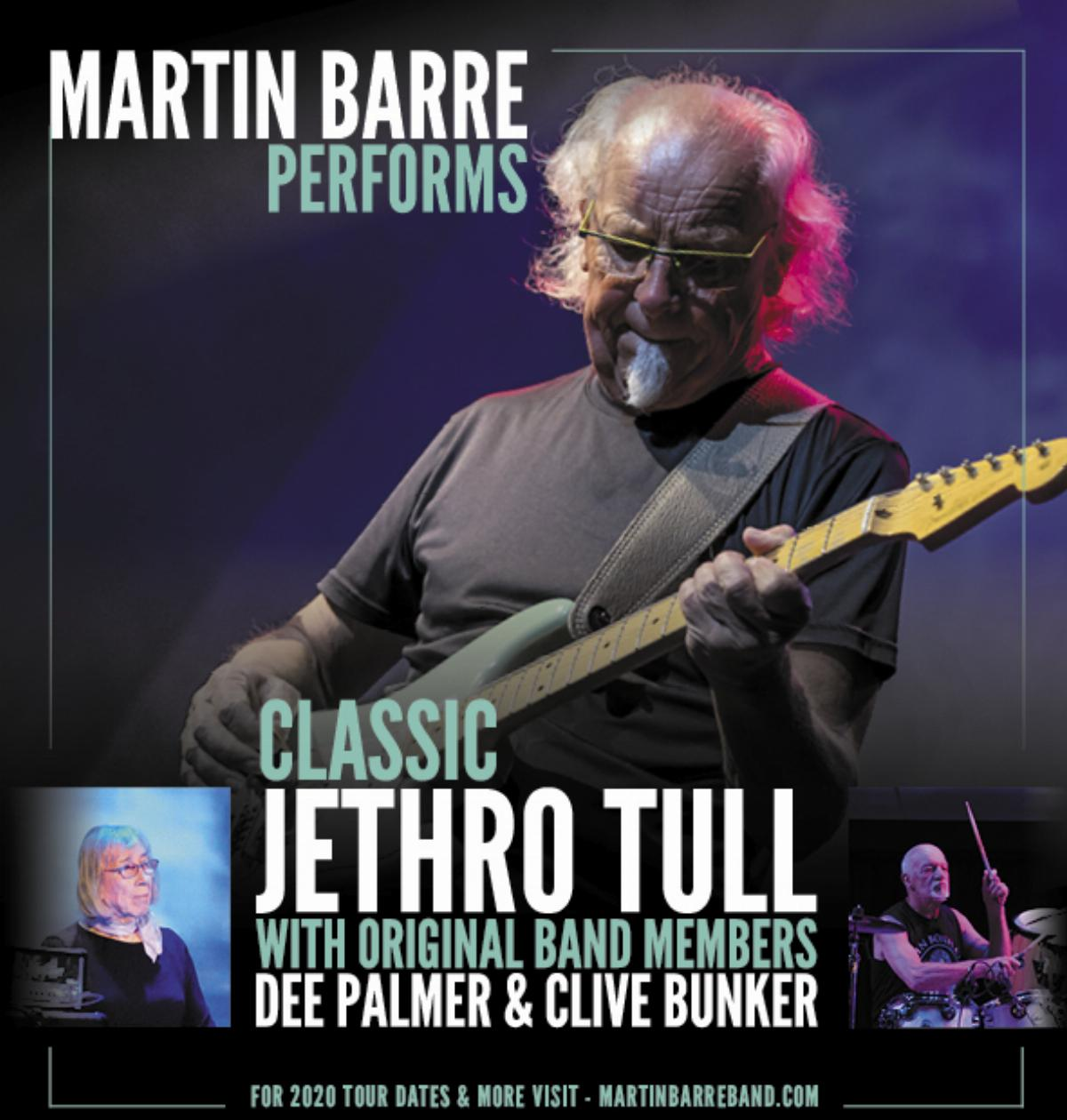 Live at The Acorn - MARTIN BARRE PERFORMS CLASSIC JETHRO TULL WITH DEE PALMER AND CLIVE BUNKER